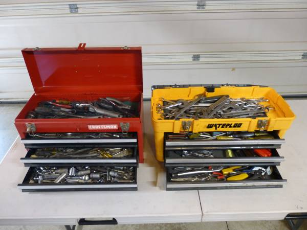 Photo Craftsman  Waterloo Tool Boxes full of tools - $125 (Chino)