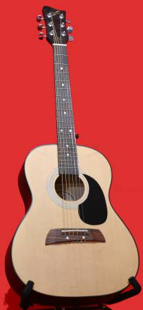 Photo First Act AL-363 34 Size Acoustic Guitar With Case - $85 (Moreno Valley)