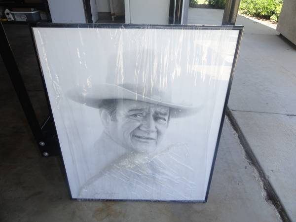 Photo Gary Saderup art - John Wayne - $15 (Menifee)