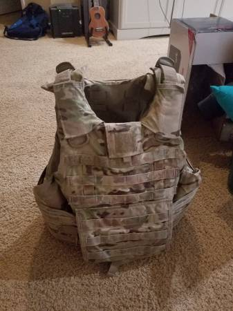 Photo Gen 4 IOTV flak jacket plate carrier - $550 (RIVERSIDE)