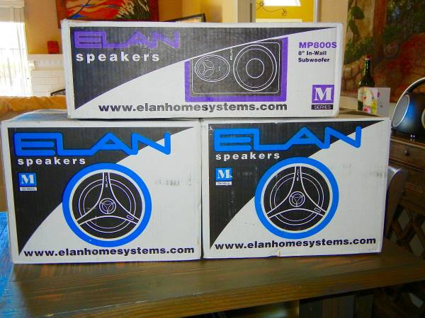 Photo High End In-wall Home Speakers with In-Wall Subwoofer  MINT UNUSED - $3 (Temecula)