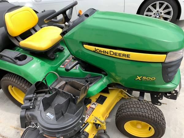 Photo John Deere X500 ride mower - $4,995 (Fontana)