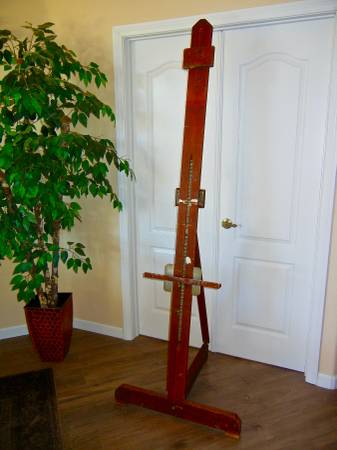 Photo Mid-Century Single Mast Artist Painting Easel - $250 (Temecula)