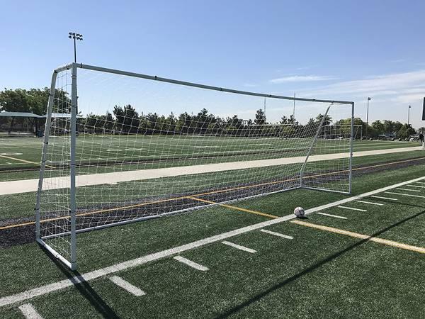 Photo PASS Premier Steel Soccer Goals. All sizes available (Black or White) - $100 (Riverside)