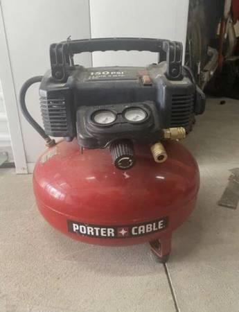 Photo Porter Cable Air Compressor - $80 (San Bernardino)