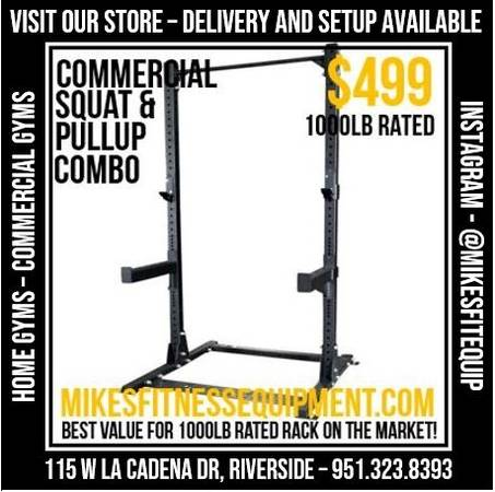 Photo SQUAT RACK - CAGE - POWER RACK - BENCH - WEIGHTS - BAR - MORE