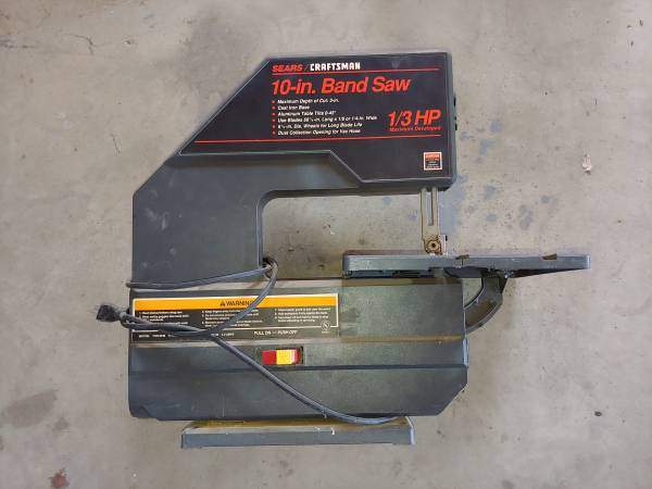 Photo Sears Craftsman 10 In Band Saw 13 Hp - $60 (COLTON)