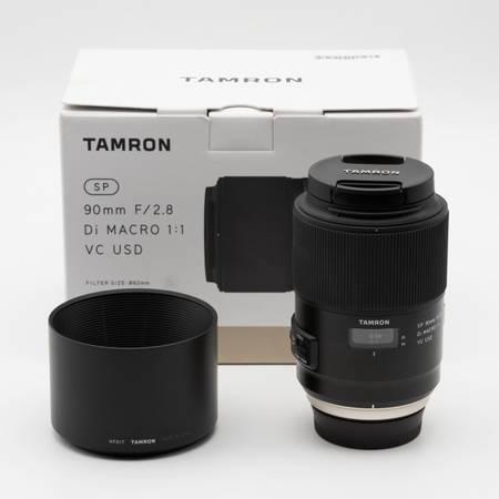 Photo Tamron SP F017 90mm F2.8 VC Di USD Lens For Nikon F mount (Macro 11) - $400 (Montclair)