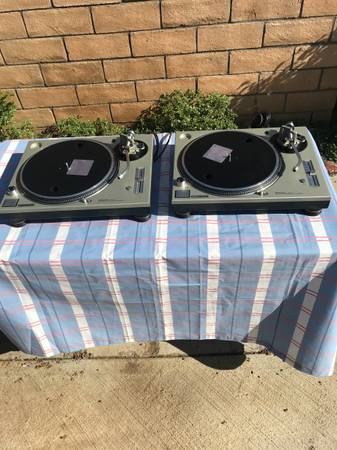 Photo Technics SL-1200MK5 record players - $1,300 (Riverside)