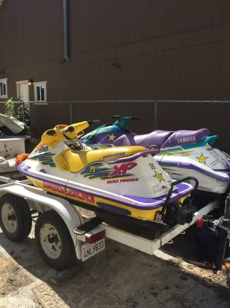 Photo Trade 2 Clean Seadoos with trailer that carrys 3 for a set of quads - $3200