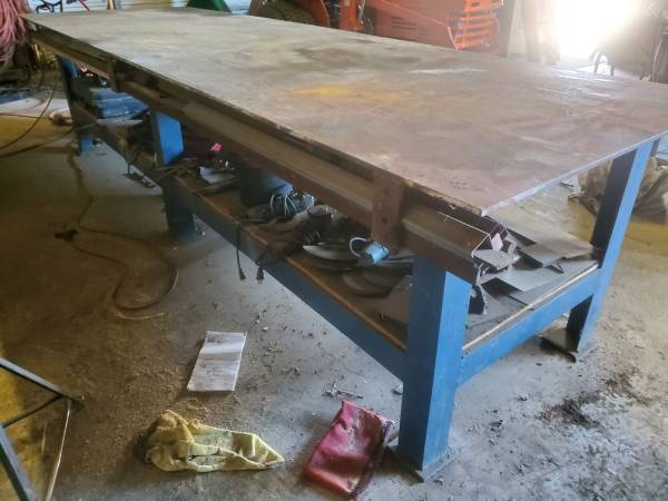 Photo WELDING FIT UP TABLE 47quot X 12397 12 12quot THICK TABLE TOP - $2,200 (bloomington)