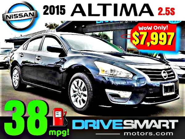 Photo quot38 MPGquot  quotLOW PRICEquot 2015 NISSAN ALTIMA 2.5S BAD CREDIT OK - $7,997 (1 YELP DEALER LOWEST PRICES BEST FINANCING quotAPPLY ONLINEquot)