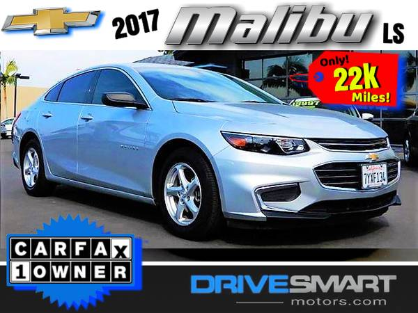 Photo quotONLY 22K MILESquot  2017 CHEVROLET MALIBU LS TURBO BAD CREDIT OK - $16,997 (1 YELP DEALER LOWEST PRICES BEST FINANCING quot760-582-8194quot)