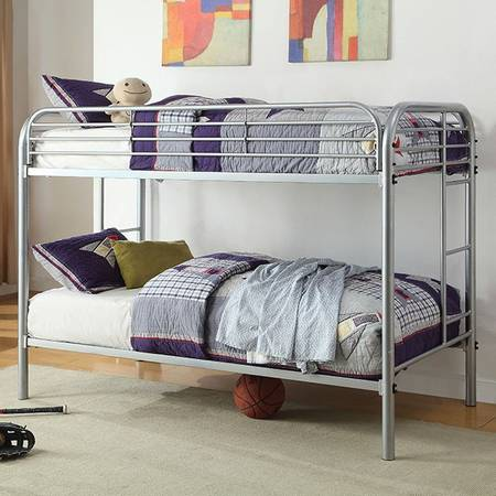 Photo twin twin bunk bed balck new - $265 (moreno valley)