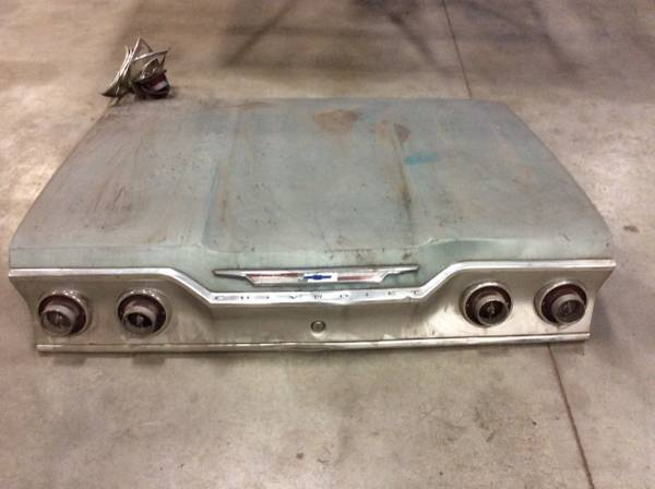 Photo 1962  1963 Chevy Impala trunk lids and hood - $900 (Tiffin)