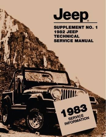 Photo 1983 Jeep service manual - $10 (oxford)