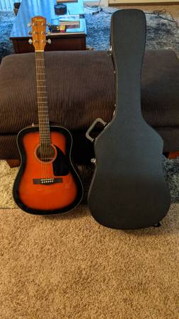 Photo Acoustic Guitar Fender CD 60 - $120 (Davenport)