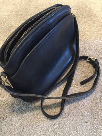 Photo Coach Leather Handbag - $60 (Iowa City)