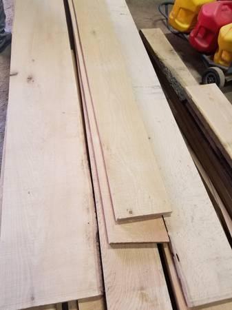 Photo Hard Wood Red  White Oak Lumber 64 44 thick for sale. - $3 (NE DM)