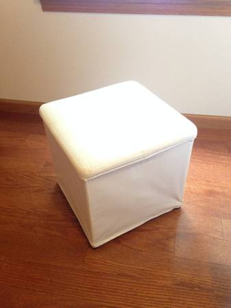 Photo IKEA Fabric Ottoman with storage quotBOSNSquot - $20 (Iowa City)