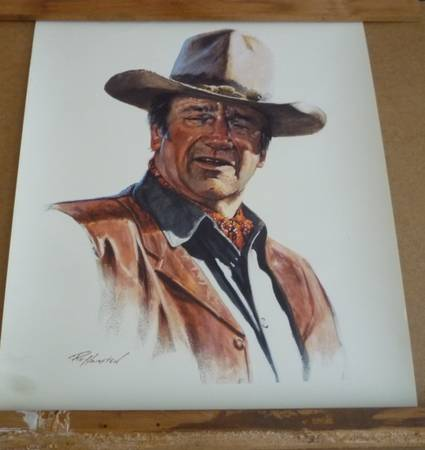 Photo JOHN WAYNE PICTURE 17 12 X 22 INCH - $10 (WEST DES MOINES IA)