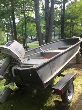 Photo 18 Hp Aluminum 14 foot fishing boat - $700 (Ithaca)