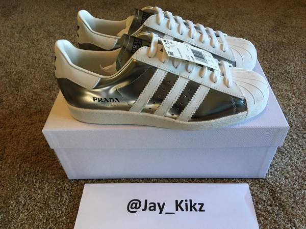 Photo Adidas x Prada Superstar - Metallic Silver (Size 9.5) IN- HAND - $700 (ITHACA)