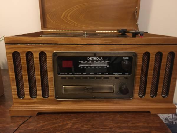 Photo Detrola Record,CD, Tape Player and Radio - $40