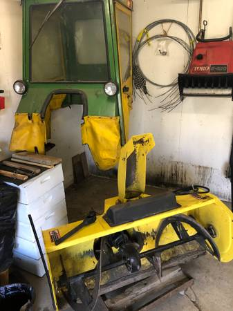 Photo John Deere Tractor Attachment SNOWBLOWER, Hard Top Cab  R Weight Kit - $2,500 (Groton)