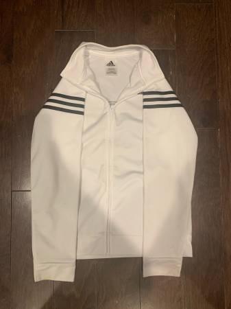 Photo Kids white adidas jacket - $15 (Lansing)