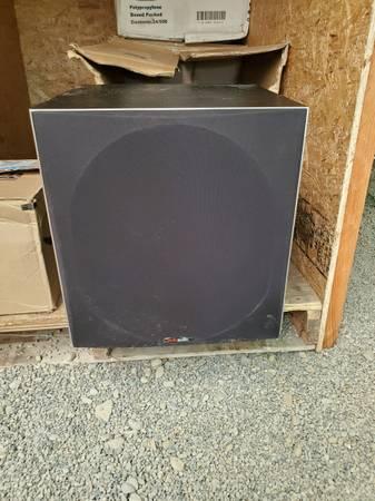 Photo Polk Audio PSW505 12quot Powered Subwoofer - Deep Bass Impact  Distortio - $325 (Marathon)