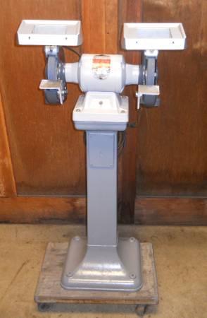 Photo vintage delta rockwell pedestal grinder - $345 (preble)