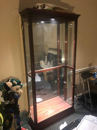 Photo Lighted display cabinet with glass shelves (for china, curio, etc.) - $285 (Magee, MS)