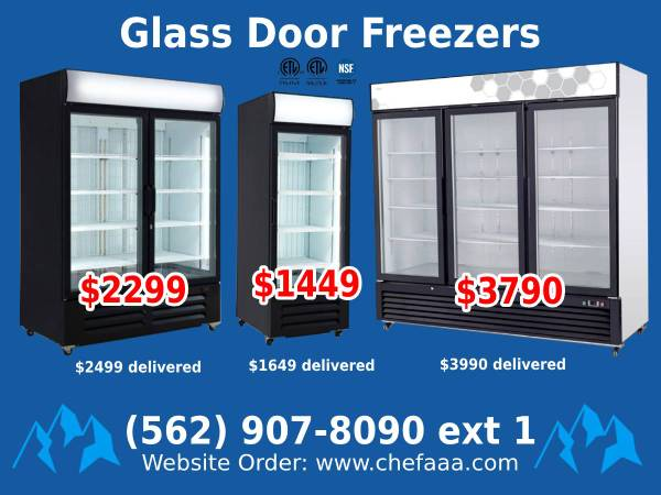 Photo NSF One  Two  Three-door Glass Freezer (Restaurant Equipment) ltb - $1,699 (Whittier)