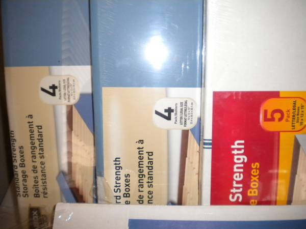 Photo New Bankers Boxes  Office Depot - $40 (ridgeland)