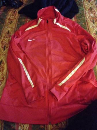 Photo XXL Red Nike zip up jacket (worn once) - $20 (Jackson)