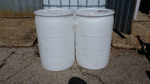 55 gallon barrels food grade plastic $15 - $1 | Garden ...