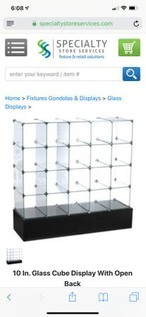 Photo Store cube glass shelves - $500 (Jackson)