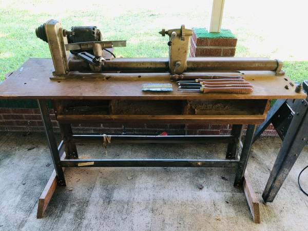 Photo Vintage Craftsman Wood Lathe with table and tools - $250 (Adamsville, TN)