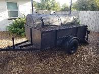 Trailer smoker pitt pit grill bbq - $850 (Ormond beach) for sale  Jacksonville