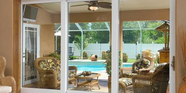 Photo 1239FT SLIDING GLASS DOOR HURRCANE IMPACT WHITE ALUMINUM LOW-E USED - $150 (SOUTHSIDE)