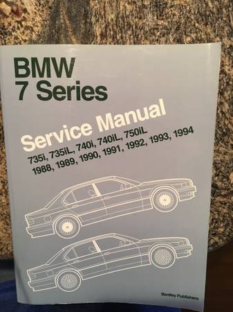 Photo 1988 - 1994 BMW 7 series service manual - $75 (Mandarin)