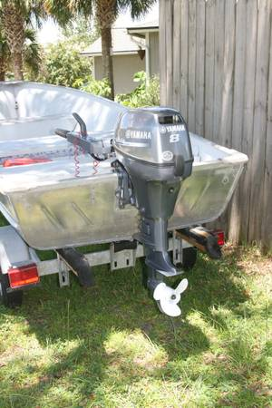 Photo 2005 Myers V- Hull 2013 8 hp Yamaha Electric Start EXCELLENT Running C - $3500 (Cr 220 - Middleburg)