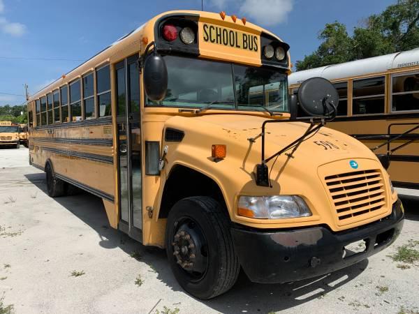 Photo 2008 blue bird medium size large ac 6.7 cummins red engine clean - $8,950 (TAMPA)
