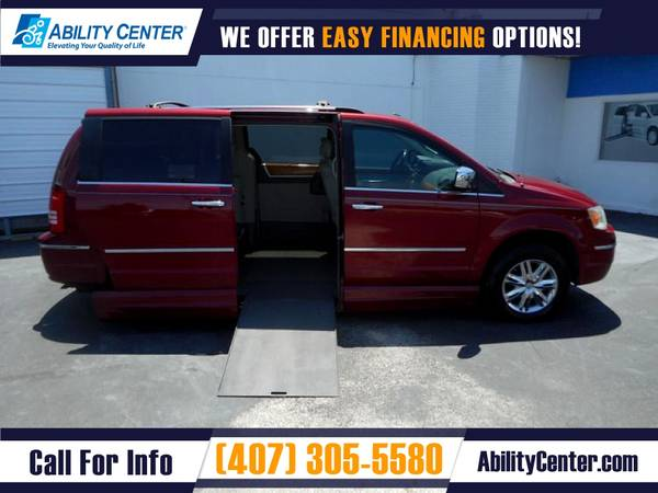 Photo 2010 Chrysler Town and Country Wheelchair Van Handicap Van - $19,900 (4401 Edgewater Drive, Orlando, FL 32804)