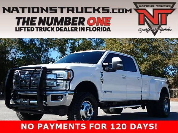 Photo 2019 FORD F350 LARIAT FX4 Crew Cab POWERSTROKE DIESEL DUALLY 4X4 LIFT - $69,995 (CENTRAL FLORIDA)