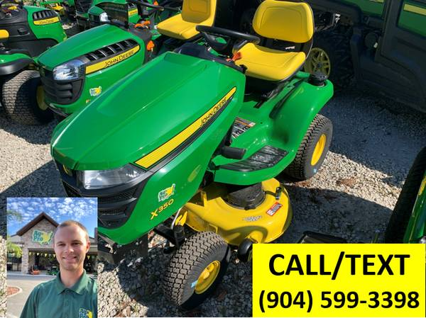 Photo 2021 NEW John Deere X350 Lawn Tractor - $3,399 (CALL OR TEXT COLIN (904) 599-3398)