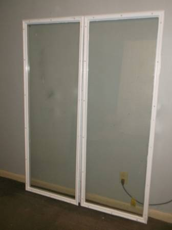 Photo 2 exterior french door glass inserts , double pane with resin trim - $60 (southside)