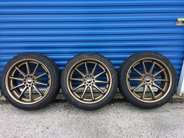 Photo 3-Tires with Rims(Lion Sport 24545R20 Direct Performance Series) Used - $450 (SouthsideJacksonville,FL)