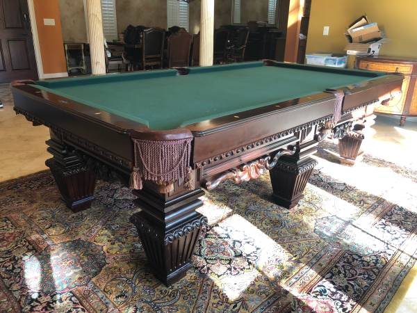 Photo 8 ft. Oversized Brunswick Royal Knight Pool TableInstall  New Felt - $3950 (Winter Springs)